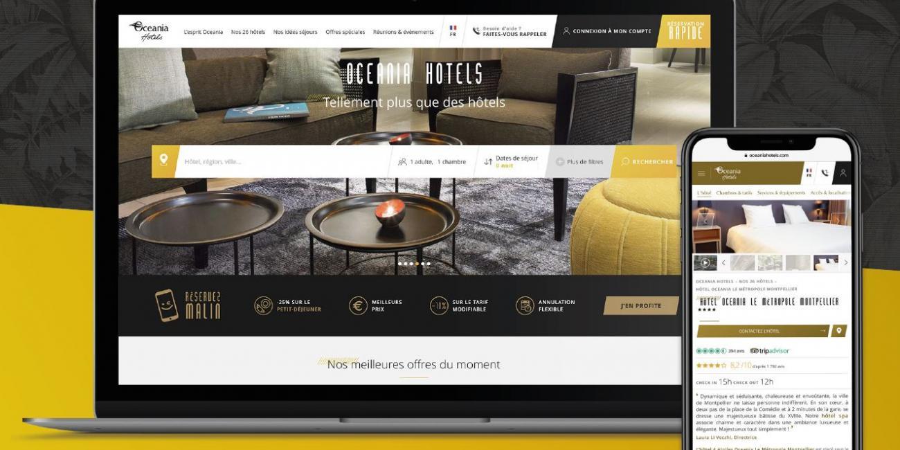 New Oceania Hotels website